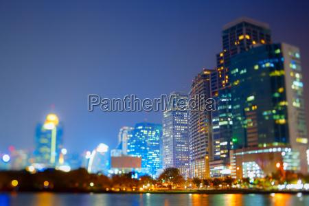 thailand bangkok view of skyline at