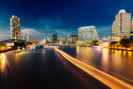 thailand bangkok view of skyline and