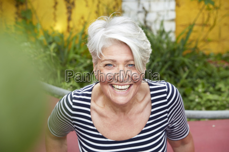 portrait of happy woman in the