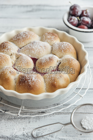 buchteln filled with plums