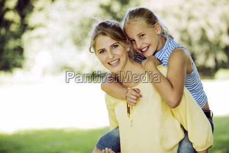 portrait of happy young woman and