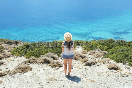 greece cyclades islands amorgos woman with