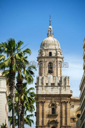 spanien andalusien malaga turm der kathedrale