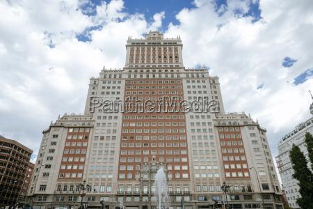 spanien madrid edificio espana plaza de