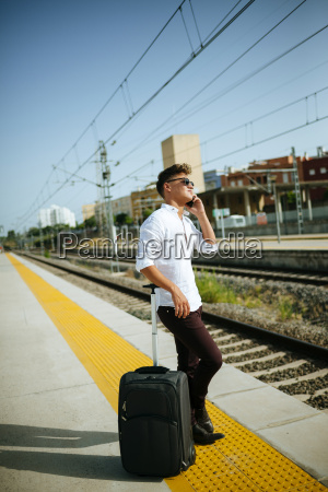 young man on cell phone at