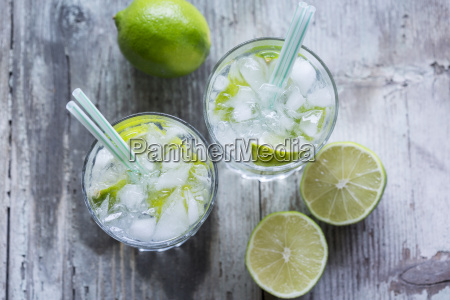 glasses of infused water with lime