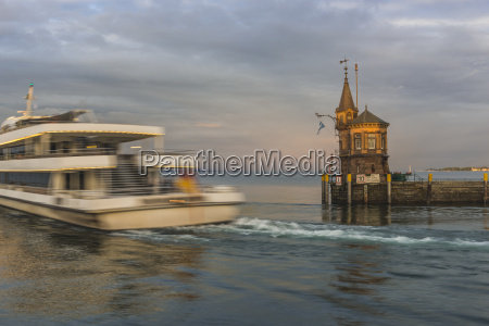 germany constance tourist boat leaving the