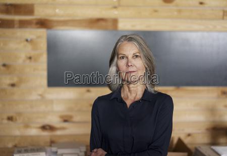 portrait of confident senior woman