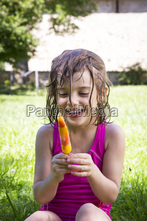 portrait of happy little girl with