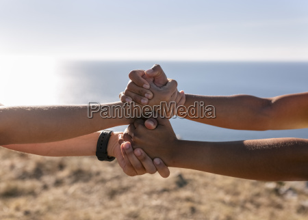 spain asturias two sportswomen training on