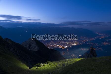austria tyrol view of innsbruck in