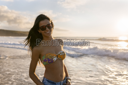 spain asturias beautiful young woman on