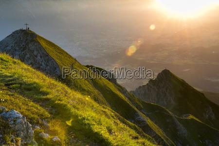 austria tyrol nockspitze at sunrise