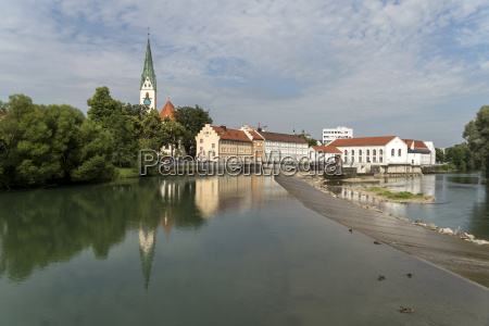 germany bavaria allgaeu kempten cityscape with