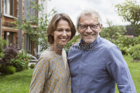 portrait of smiling mature couple in