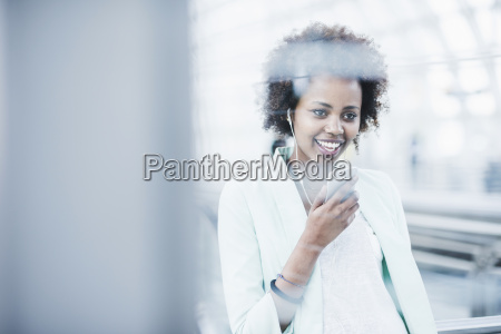 portrait of smiling young woman with