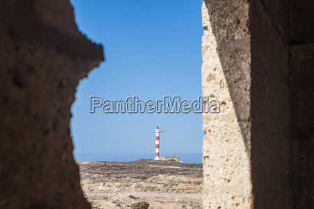 spain tenerife view to lighthouse