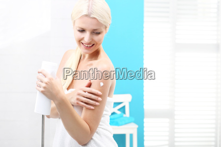 body care in the shower beautiful