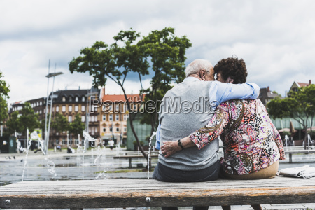 germany mannheim back view of kissing