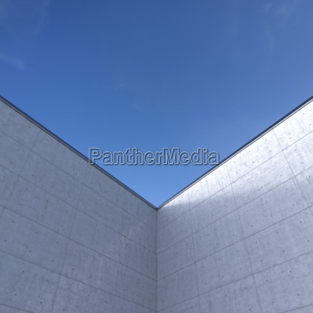 high concrete wall in front of