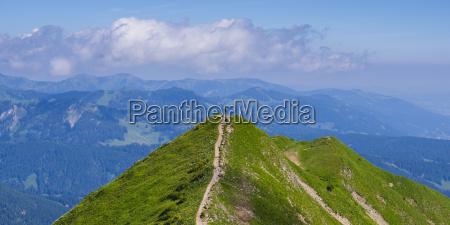 germany bavaria allgaeu alps fellhorn panoramic