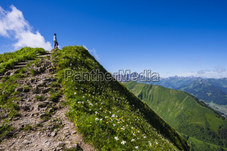 germany bavaria allgaeu alps fellhorn hiking