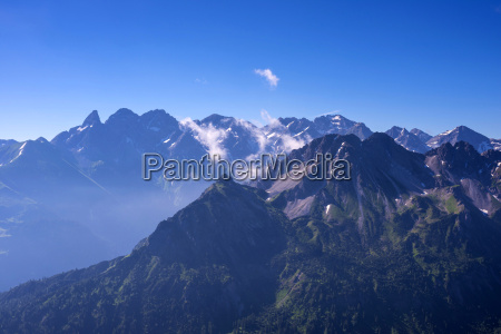 germany bavaria alps main ridge of