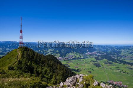 germany bavaria allgaeu gruenten communication tower