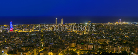 spain barcelona panoramic city view