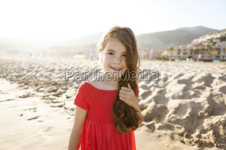 portrait of smiling little girl on