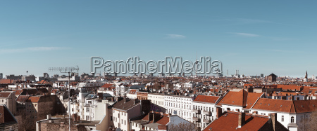 germany berlin panoramic city view with