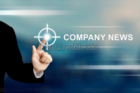 business hand klicken unternehmens news taste