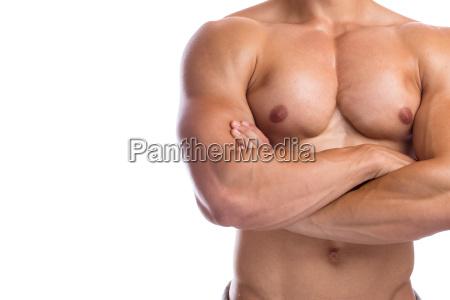 bodybuilder bodybuilding muskeln anspannen posen textfreiraum