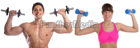 bodybuilding woman man muscles body building