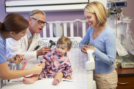 mother and daughter in pediatric ward