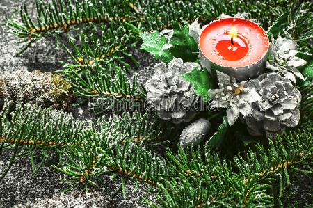 xmas background with christmas tree