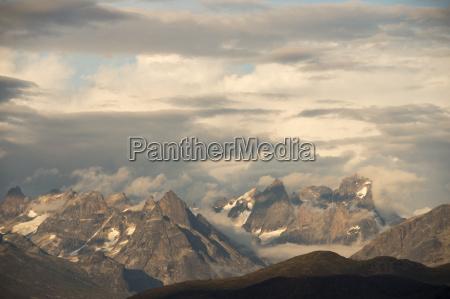 blick auf die berge in groenland
