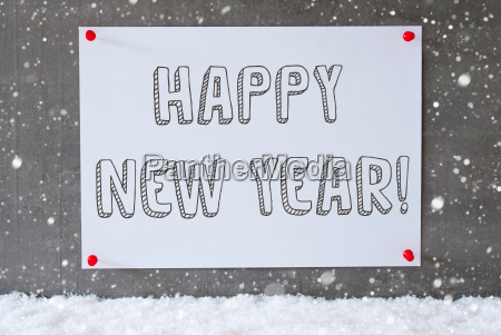 label on cement wall snowflakes text