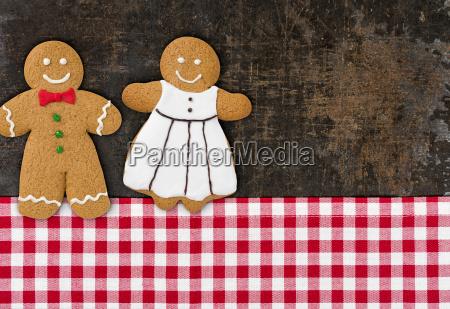 lebkuchenmann und lebkuchenfrau