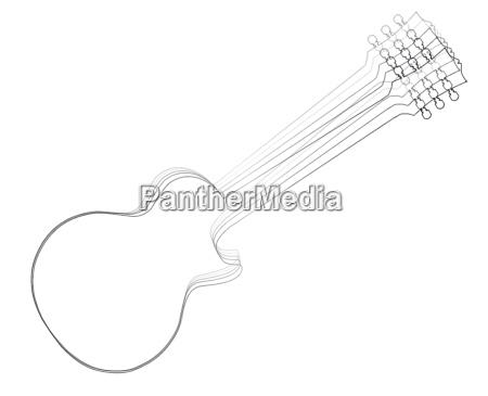 elektrisch faden gitarre saite silhouette silhoutte