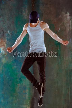 the man dancing hip hop choreography