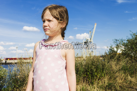 5 year old girl standing in