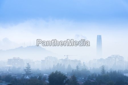 overview of santiago de chile with