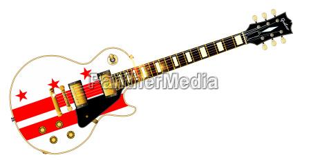 amerikanisch usa elektrisch fahne amerikaner gitarre
