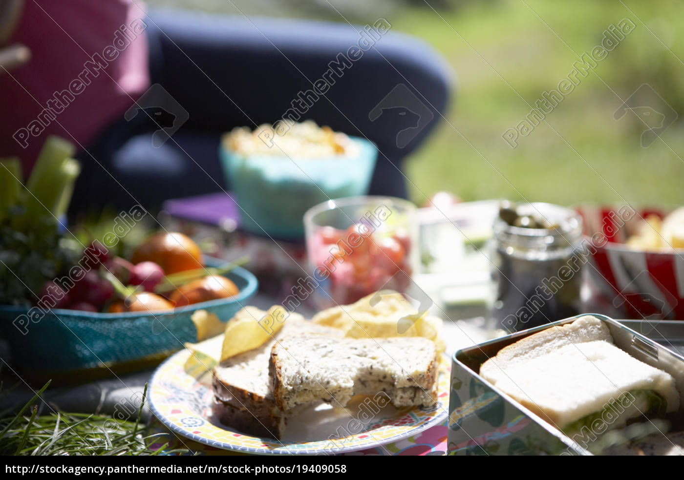 picknick-essen, auf, der, decke - 19409058