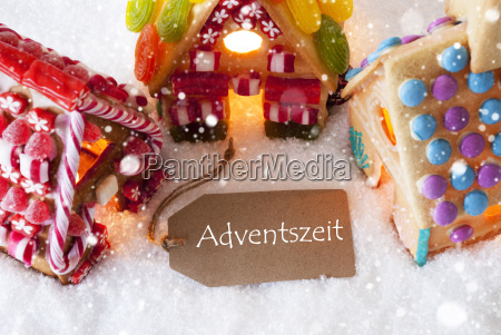colorful gingerbread house snowflakes adventszeit means