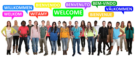 welcome multicultural people group people say