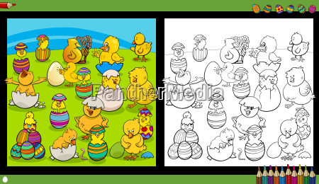 easter characters coloring book
