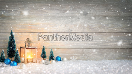 christmas wood and snow backgrounddecorated with