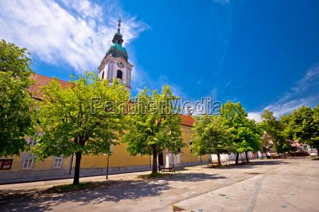 karlovac central square church and park